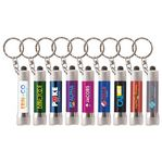 Custom Chroma - LED Flashlight with Keyring - Full-Color Metal Keyring