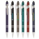 Custom Ellipse Softy with Stylus - Full-Color Metal Pen