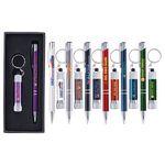 Custom Tres-Chic & Chroma - ColorJet - Full Color Metal Pen & Flashlight Gift Set