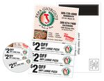 Custom Magnetic Stick-Up Card - Coupon - Full Color