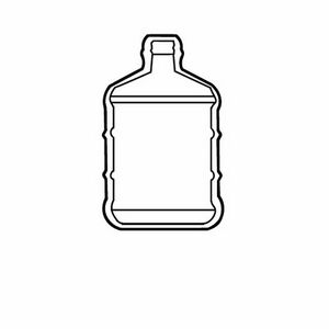 Custom Printed Water Bottle Container Stock Shape Air Fresheners