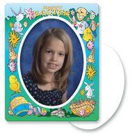 30 Mil Oval Center Easter Picture Frame Magnet - Full Color