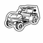 Key Tag - Golf Cart 3 - Spot Color