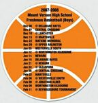 20 Mil Basketball Schedule Magnet - Full Color