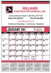 Custom Contractor's 12-Sheet Calendar-19