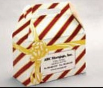 Custom Printed Striped Gift Wrapped Design Donut Boxes