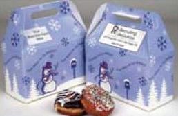 Custom Printed Seasons Greetings Design Donut Boxes
