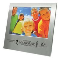 "Photo Frame - Brushed Aluminum Picture Frame for 5""x7"" Photo"