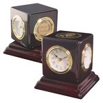 Clock - Swivel Multi-Function weather station Desk Clock with photo frame