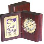 Custom Clock - Wood Book Clock Award (Imprinted)