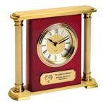 Custom Clock - Brass Column Mantel Clock