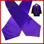 Custom Blank Violet Purple Graduation Stole