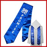 Custom Domestic Graduation Screen Print Stole