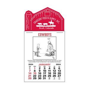 Cowboy 12 Month Press-N-Stick Calendar Pad