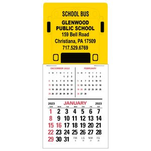 3-Month Vertical Super Size Press-N-Stick Calendar