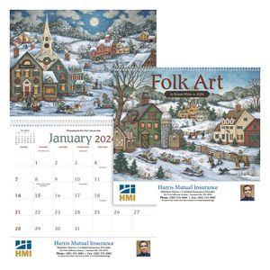 Custom Printed Folk Art Appointment Calendars