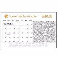 Triumph® Adult Coloring Book Desk Pad Calendar