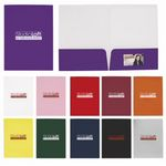 Custom Good Value Gloss Paper Folder