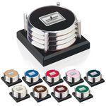 Jaffa® Four Coasters w/Black Acrylic Tray