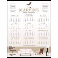 Triumph® Custom Single Sheet Span-A-Year Calendar
