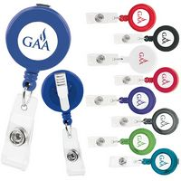 Good Value® Promo Retractable Badge Holder w/Alligator Clip