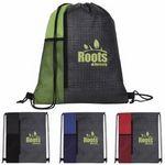 Custom Good Value Non-Woven Vertical Drawstring Backpack