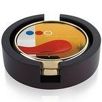 Jaffa® Two Round Radiant Coasters w/Wood Tray