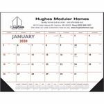Custom Triumph Blue & Black Desk Pad Calendar w/ Vinyl Corners