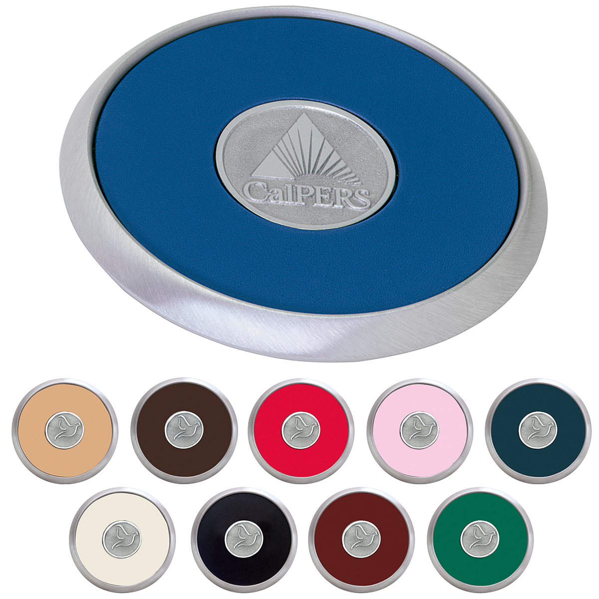 Jaffa® Round Brushed Zinc Coaster