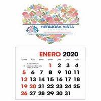 Triumph® Full Color Spanish Stick Up Grid Calendar