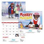 Custom GoodValue Monkey Mischief Calendar (Spiral)