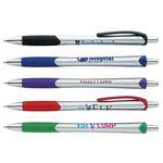 Custom GoodValue Silver Slim Ballpoint Pen