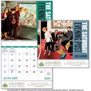 Custom Printed The Saturday Evening Post Various Artists Appointment Calendars