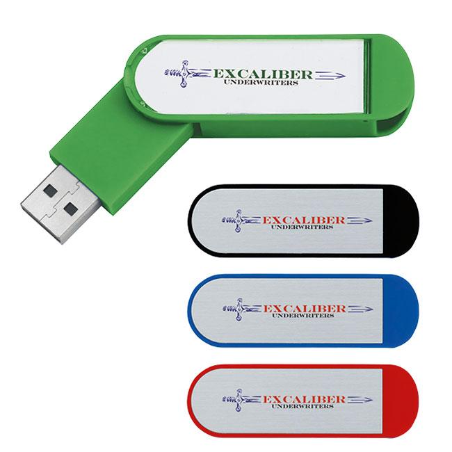1 GB Universal Source™ Labeled Folding USB 2.0 Flash Drive