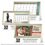 Custom Triumph The Saturday Evening Post Illustrations Desk Calendar