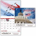 Custom Good Value Celebrate America Calendar (Stapled)