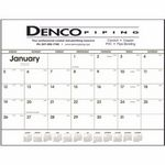 Custom Triumph Black & White Desk Pad Calendar