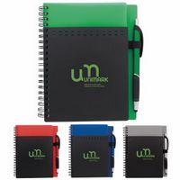 Good Value® Stitch Notebook w/Lace Metallic Stylus Pen