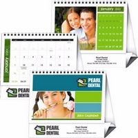 Triumph® Custom Desk-Small Twin-Looped Calendar
