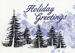 Custom Holiday Forest Illustration Holiday Greeting Card (5