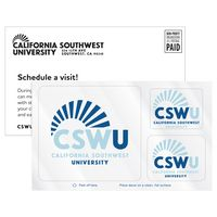 3 Rounded Corner Rectangles Frosty Clear Vinyl Post-Cals Decal Postcard