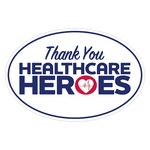 Custom Thank You Healthcare Heroes Ultra Removable Adhesive Bumper Sticker (4