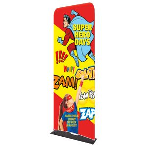Indoor Double Sided Banner Stand w/ Fabric Banner (25 5/8 x 91)