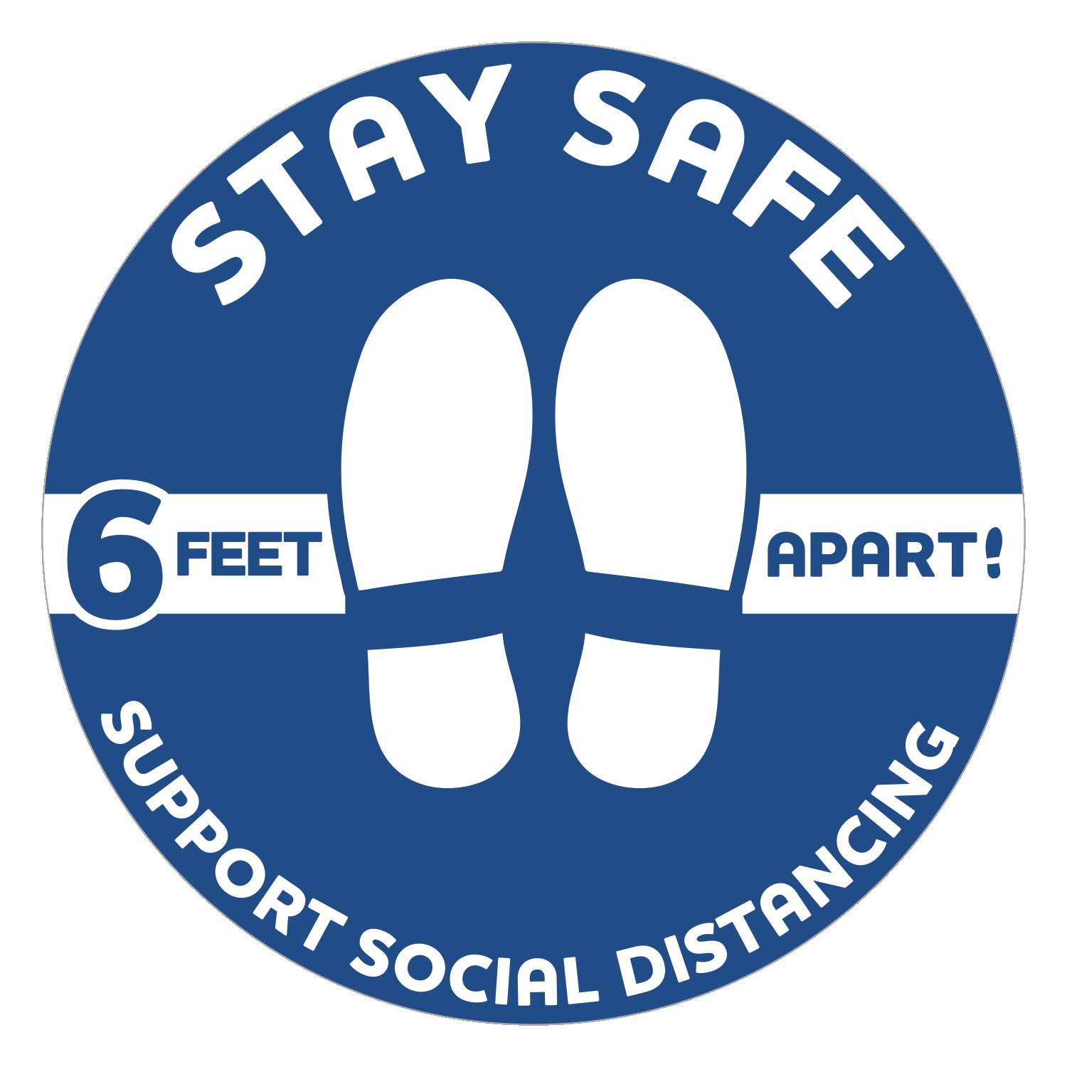 Stay Safe Floor Decals - Circles