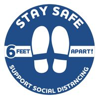 "Stay Safe Floor Decals (12"" dia.)"