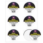 Round Quick & Colorful Sheeted Label (3