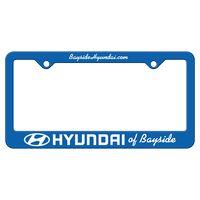 Blue Auto License Frame w/ 2 Holes & Large Bottom Straight Panel