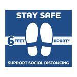 Custom Stay Safe Floor Decals (12
