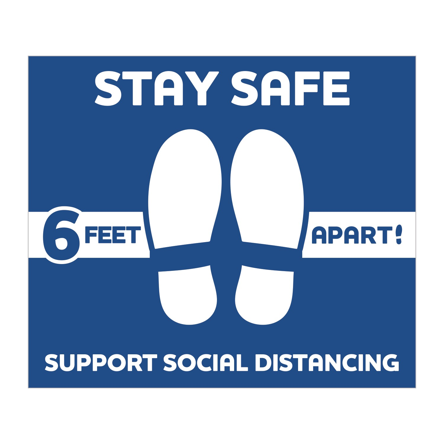 Stay Safe Floor Decals - Squares