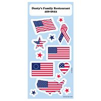 Patriotic Sticker Sheet w/ Flags